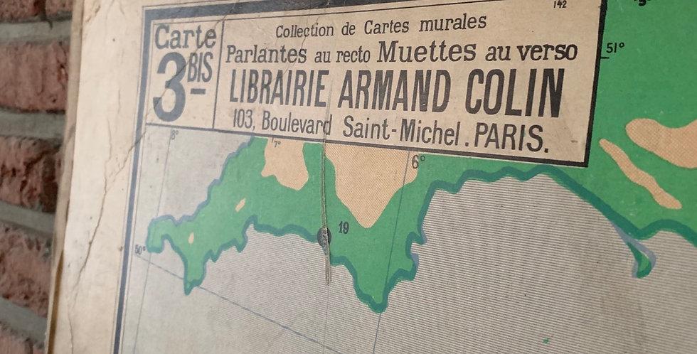 Carte scolaire France Relief du Sol