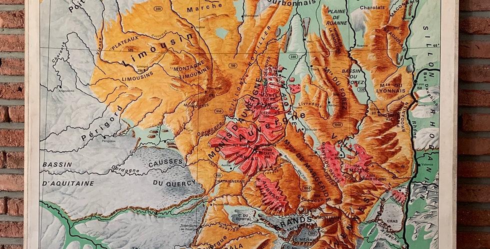 Carte scolaire du Massif Central