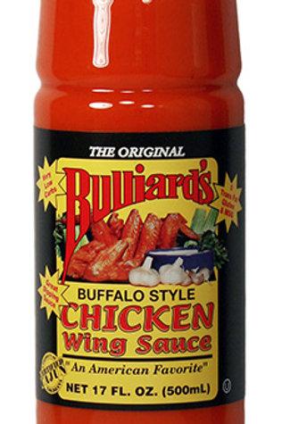 Bulliards Buffalo Style chicken wing sauce