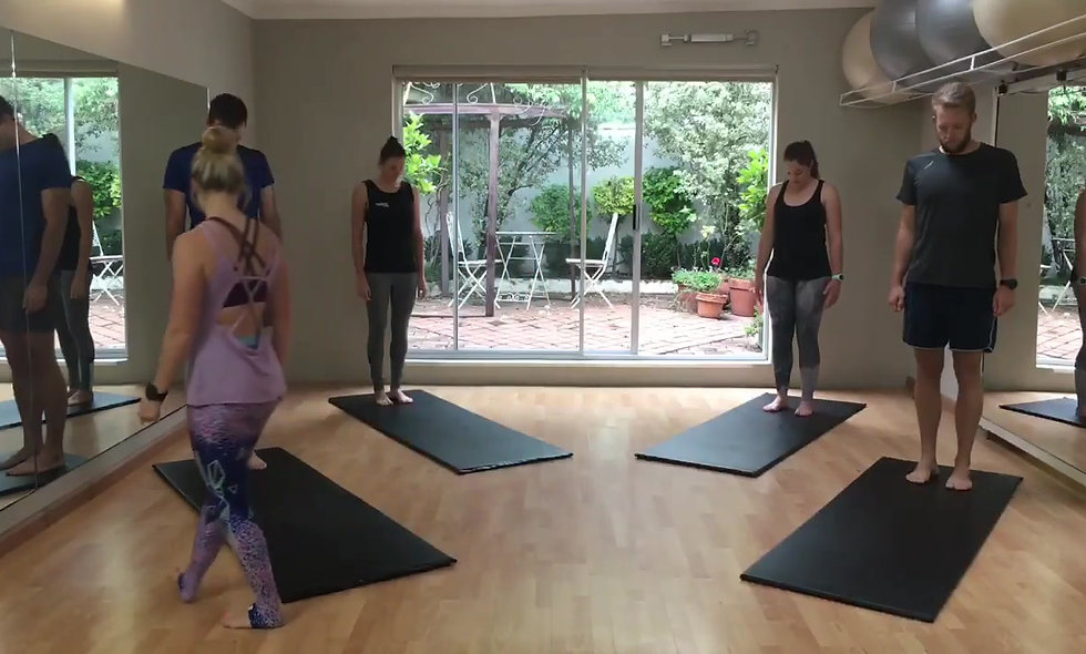 Athletes try Pilates for the first time - Pt4