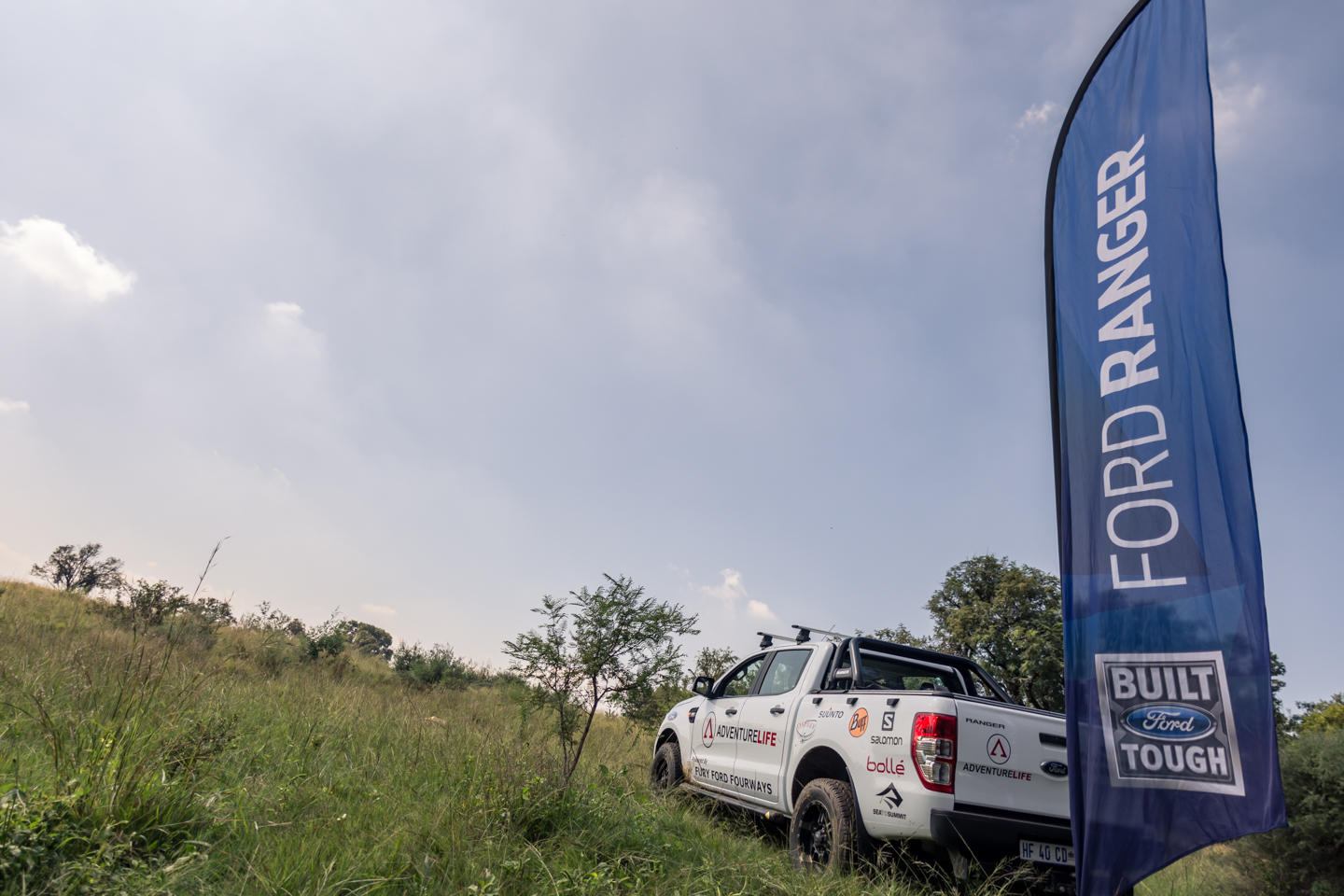 Adventure Life showcasing their Ford Ranger at water point 3