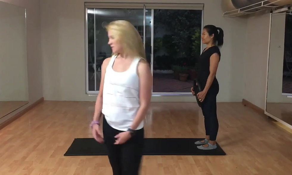 Pilates with a magic circle for back pain/SIJ dysfunction.