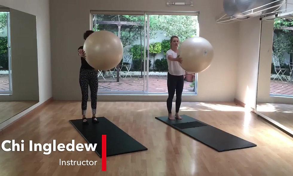 Pilates big ball fun and variations