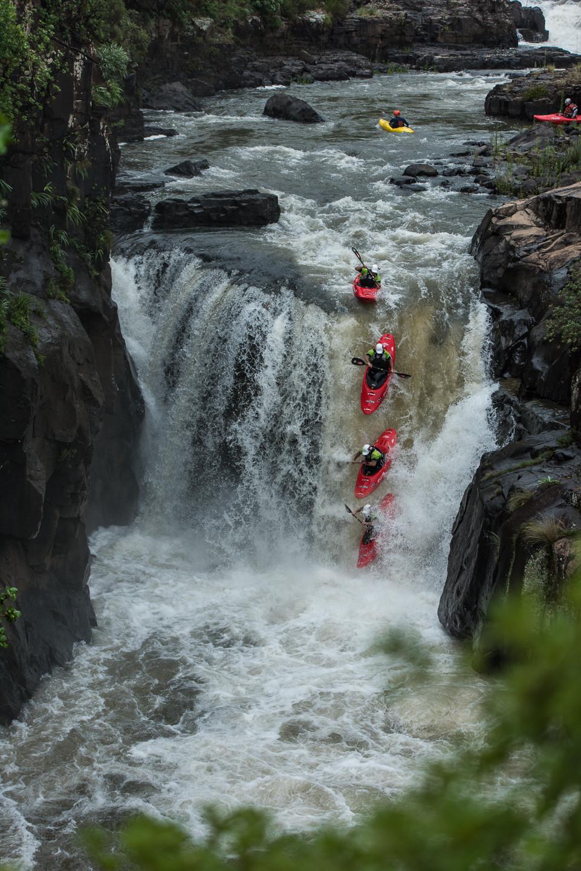Shane Raw on Thrombi falls- ©TerenceVrugtman.com