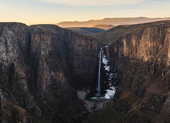 Maletsunyane Falls Sunset