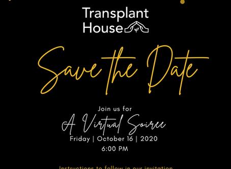 Transplant House 2020 Virtual Soiree Announced!