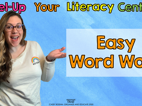 Easy Word Work Centers