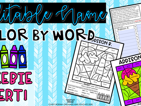 Send your students a sweet note with this easy FREEBIE!