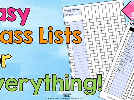 Class Lists for EVERYTHING!