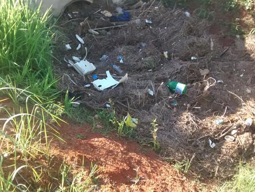 Lugar de lixo, é na lixeira!