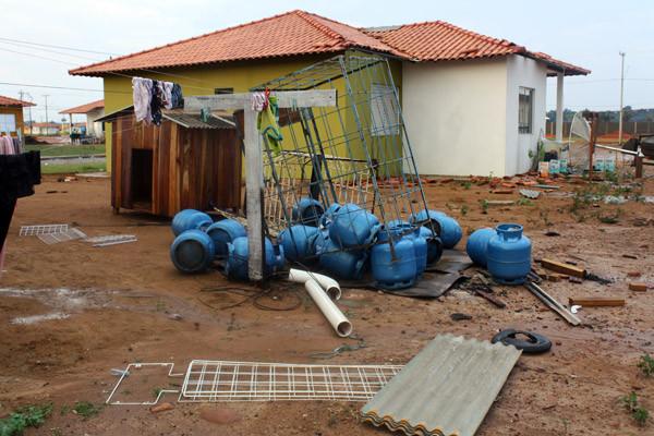 Estragos causados pelas chuvas