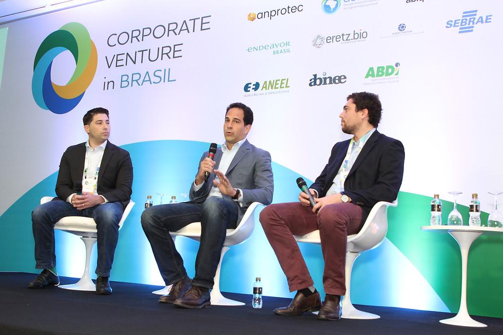 Daniel Karp (à esquerda) participou da última edição do Corporate Venture in Brasil