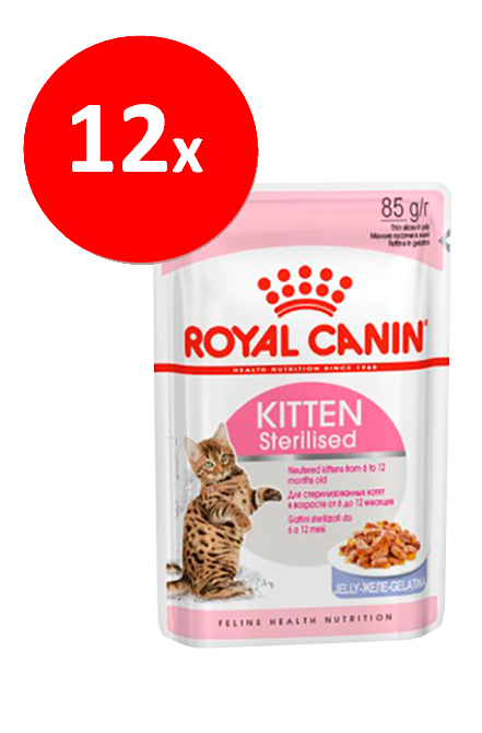 Royal Canin - PACK 12 unidades Kitten Sterilised Sachet 85Gr.
