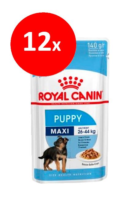 Royal Canin - PACK 12 unidades Maxi Puppy Sachet 140Gr.
