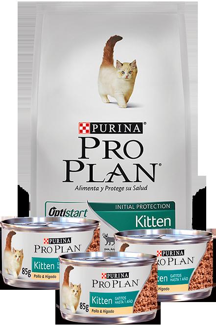Pro plan - PACK Kitten Gatitos 7,5Kg + 3 Latas 85g.