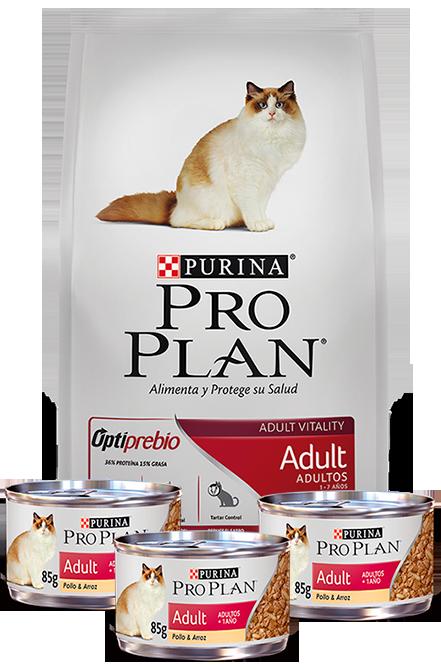 Pro plan - PACK Adult Cat 7,5Kg + 3 Latas 85gr.