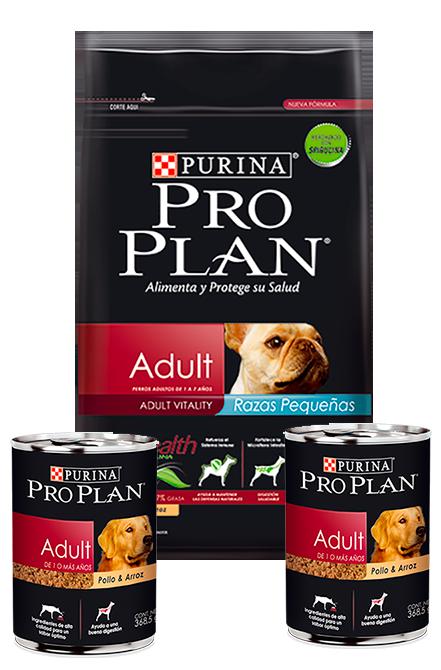 Pro Plan - PACK Adulto Raza pequeña 7,5Kg + 2 Latas 368,5g.