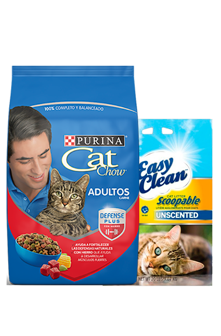 Cat Chow - PACK Adulto Carne 8Kg + Arena 9Kg.