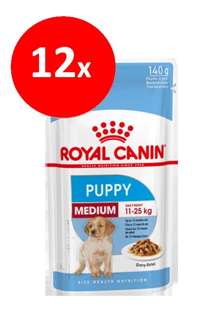 Royal Canin - PACK 12 unidades Medium Puppy Sachet 140Gr.