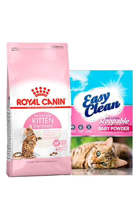 Royal Canin - PACK Kitten Sterilised 7,5Kg + Arena 15Kg.