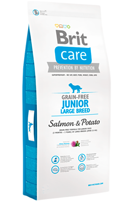 Brit Care - Junior Large Breed Salmón 12Kg.