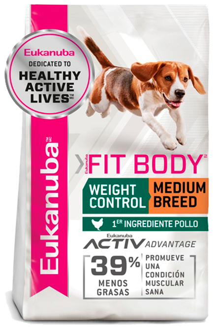 Eukanuba - Fit Body Medium Weight Control 13,6Kg.