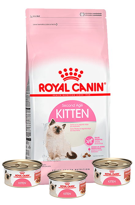Royal Canin - PACK Kitten 7,5Kg + 3 Latas 165g.