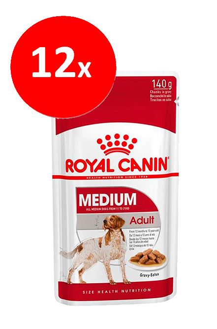 Royal Canin - PACK 12 unidades Medium Adulto Sachet 140Gr.