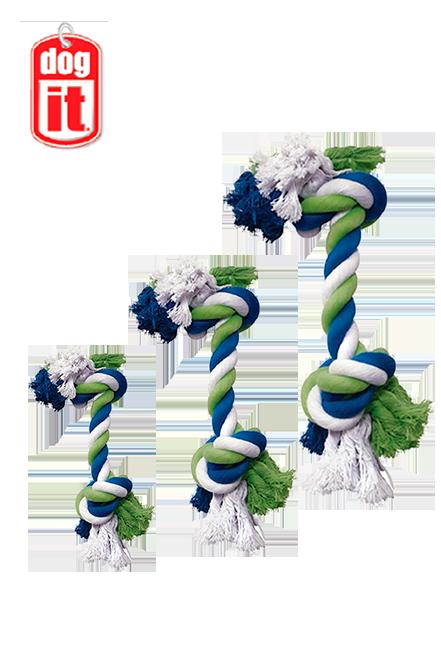 Dogit - Cuerda Anudadas Tricolor.