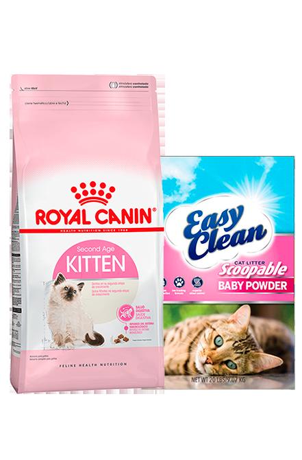 Royal Canin - PACK Kitten 7,5Kg + Arena 15Kg.