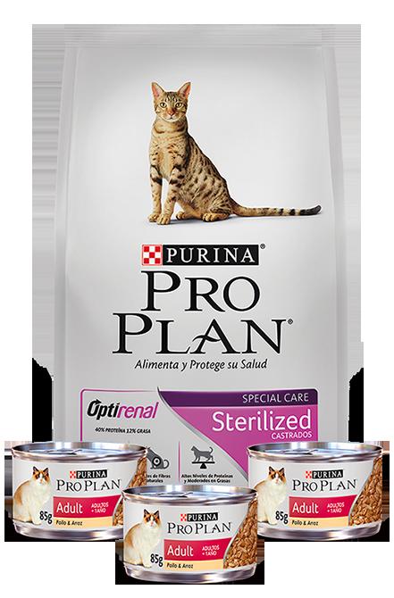 Pro plan - PACK Sterilized Cat 7,5Kg + 3 Latas 85g.