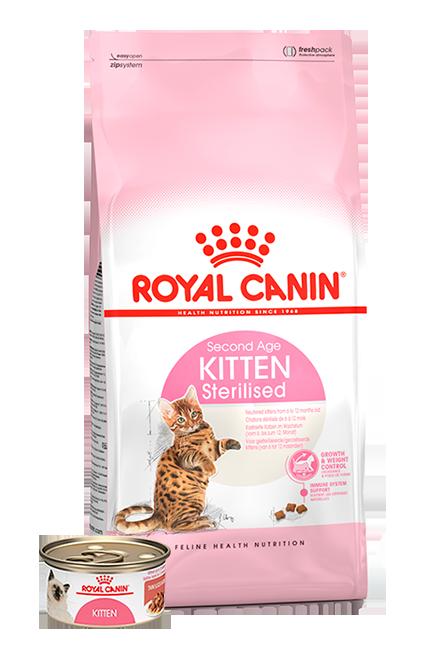 Royal Canin - PACK Kitten Sterilised 1,5Kg + 1 Lata 165g.
