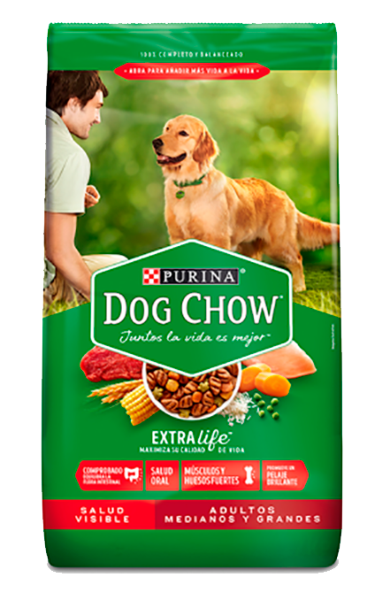 Dog chow - Adulto Raza media y Grande - Carne y Pollo 18Kg.