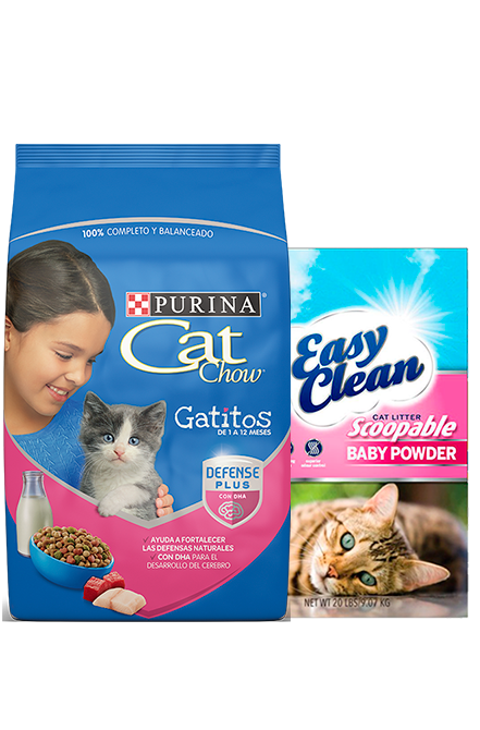 Cat Chow - PACK Gatitos Defense 15Kg + Arena 15Kg.
