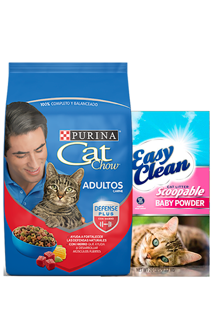 Cat Chow - PACK Adulto Carne 15Kg + Arena 15Kg.