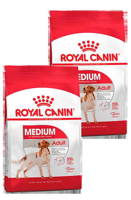 Royal Canin - PACK 2X Medium Adulto 15Kg.