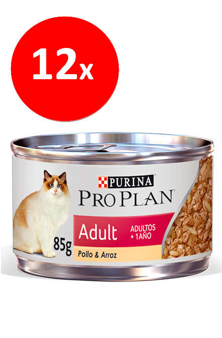 Pro plan - PACK 12 unidades Adult Cat Lata 85g.