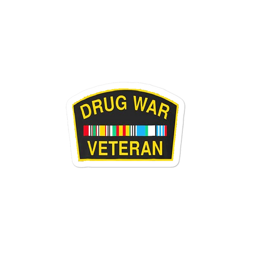 Drug War Veteran Bubble-free stickers