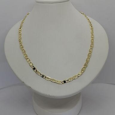 Incre�ble Cadena Planchada en Oro Laminado 55cm