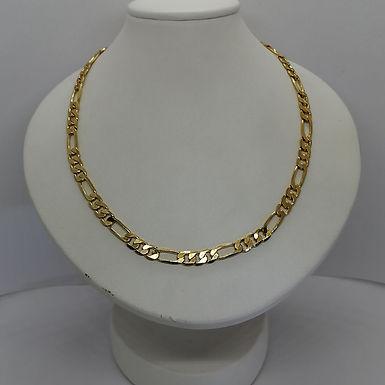 Incre�ble Cadena de Eslabones en Oro Laminado 50cm