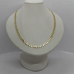 Elegante cadena continua 55cm oro laminado