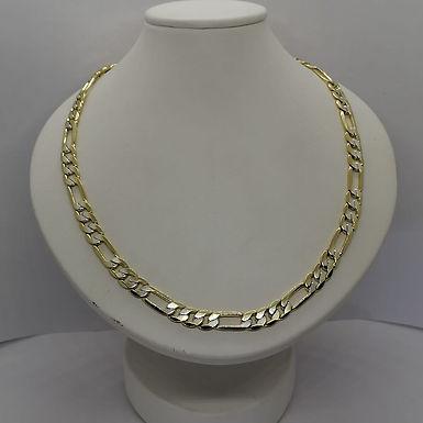 Incre�ble Cadena de Eslabones Bitono Oro Laminado 50cm