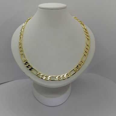 Incre�ble Cadena de Eslabones de Oro Laminado 60cm