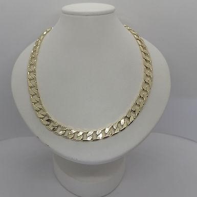 Incre�ble Cadena Continua Planchada de Oro Laminado 55cm