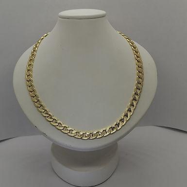 Incre�ble Cadena Continua Facetada de Oro Laminado 60cm