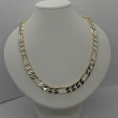 Cadena Cl�sica Bicolor 55cm Oro Laminado