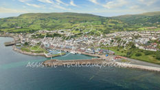 Carnlough Harbour and Village