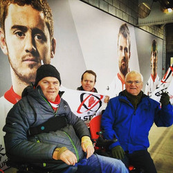 Dad, Terry and I watching Ulster