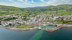 The hills above Carnlough Harbour