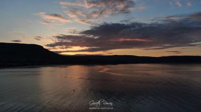 Sunset behind Lurig mountain